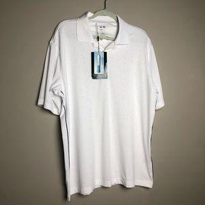 NWT! Adidas Climacool white polo golf shirt